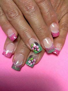 Pink French Nails, Nail Art, Beauty, Finger Nails, Templates, Pretty Toe Nails, Toe Nail Art, Nail Designs, French Tips