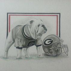 My latest sketch, for a friend who is a HUGE Georgia bulldog fan..