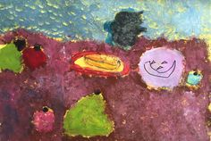 """""""Shadows"""" Paint and texta by Lulu 1/2O 2015"""