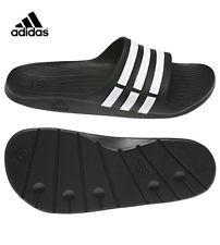 0b2581192 Adidas Duramo Mens Sliders Flip Flops Sandals Pool Beach Shoes Slippers  Slides