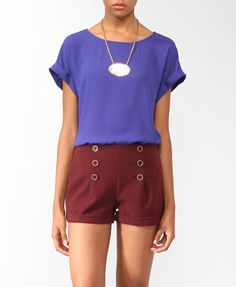 Boxy Cuffed Sleeve Top | FOREVER21