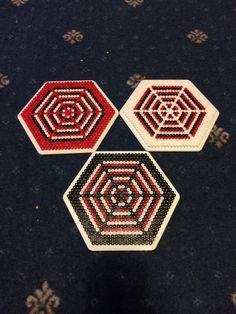 Hama beads hexagon 10