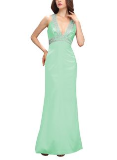 """Bbonlinedress long V-Neck Beaded Sequins Prom Dress Homecoming Evening GownMint 26W. Cute and charming homecoming dress, high quality fabric!. This dress is Made-To-Order. In order to make the most suitable dress, please measure yourself as the """"how to measure"""" Image, use the Size Chart Image on the left. Suitable as prom dresses, cocktail dresses, Homecoming and other formal dresses. Customized designs and colors are also available. Shipping Time: STANDARD shipping will take about 1-2…"""