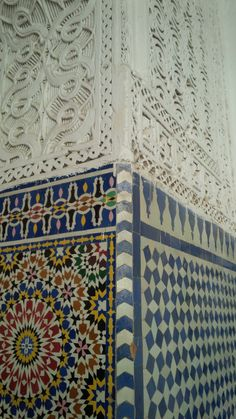 the tile work and mosaics in Moulay Idriss