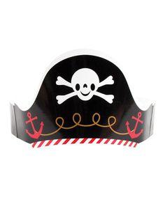 Pirate Paper Hat - Set of 12 #zulily #zulilyfinds