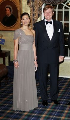 Crown Princess Victoria of Sweden and King Willem-Alexander of the Netherlands