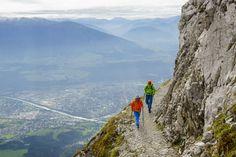 Hiking the Goetheweg Trail above Innsbruck, Tyrol