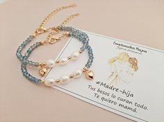 Diy Jewelry, Beaded Jewelry, Jewelery, Handmade Jewelry, Jewelry Design, Jewelry Making, Beaded Bracelets, Mother Daughter Bracelets, Bracelet Crafts