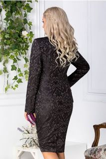 La Moda: Compleul negru Leonard Collection cu motive floral... Dresses With Sleeves, Long Sleeve, Floral, Collection, Fashion, Moda, Sleeve Dresses, Long Dress Patterns, Fashion Styles