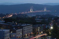 City of Poughkeepsie at night...