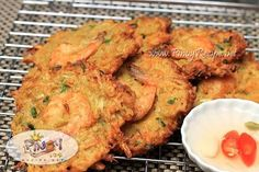 a Filipino style Shrimp Fritters - Filipino Recipes