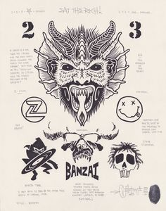 """""""Banzai"""", 11x14″, permanent marker and graphite on fine drawing paper, 2013."""
