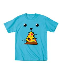 Another great find on #zulily! Turquoise Dog Face Pizza Tee - Toddler & Kids #zulilyfinds