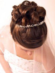 Wedding Updo Hair Style with Tiara