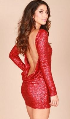 Leiluna Collection Red Sequin Open Back Dress Jerseylicious Fashion: Olivias Red Sequin Dress