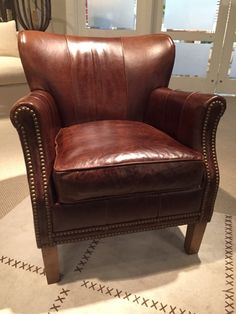 Lovely Randall Allen Piece. Rowe Leather Chair