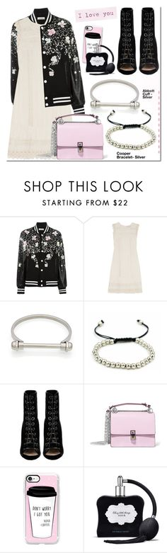 """Dress and bomber jacket"" by mada-malureanu ❤ liked on Polyvore featuring NIGHTMARKET, Chelsea Flower, Barbara Bui, Fendi, Casetify, Victoria's Secret, bomberjacket and thestyledcollection"