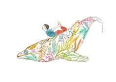This is an archival print of my original watercolor paintings whale and child, this is one of my yoga kids series. The first photo is original and