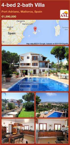 4-bed 2-bath Villa in Port Adriano, Mallorca, Spain ►€1,590,000 #PropertyForSaleInSpain