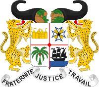 Brasão de armas de Benim. Coat of arms of Benin.