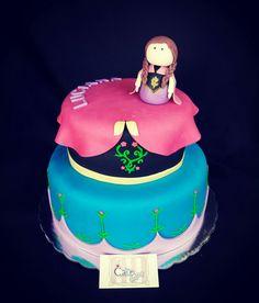 Anna cake #frozen #pastel