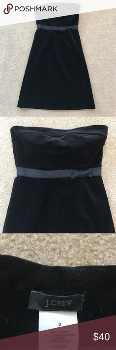 JCrew Strapless Black Dress Beautifully soft strapless JCrew black dress. Falls right along knees and includes interior straps so no need to worry about Dress slipping. J. Crew Dresses Strapless