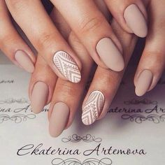 Lovely combo of nude colour and creative artwork