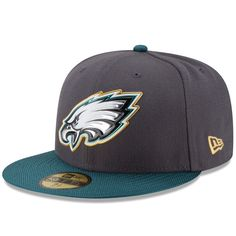 brand new aa64d 0549c Philadelphia Eagles New Era Gold Collection On Field 59FIFTY Fitted Hat -  Graphite Midnight Green