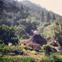 Harbin Hot Springs, Middletown, California (near Clear Lake). Reservations. 6 hour mid-day day use passes. Camping, cabins, cottages, and domes. Clothing optional.