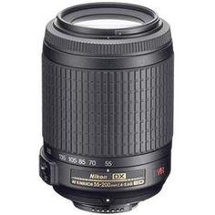 Nikon 55-200mm f/4-5.6G ED-IF AF-S DX VR Vibration Reduction Lens F/DSLR Cameras - Refurbished $134