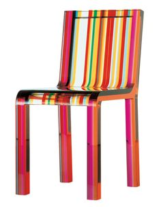 Rainbow Chair by Patrick Norguet for Cappellini 2000 Multi-Color Lucite Acrylic For Sale at High Back Chairs, Side Chairs, Patrick Norguet, Postmodern Art, Wrought Iron Chairs, Colorful Chairs, Colorful Furniture, House On A Hill, Chair Fabric