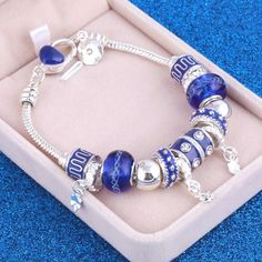 Cheap crystal charm bracelet, Buy Quality charm bracelet directly from China bracelet jewelry Suppliers: European Style Vintage Silver plated Crystal Charm Bracelet Women fit Original DIY Brand Bracelet Jewelry Gift Bracelets Diy, Silver Bangle Bracelets, Pandora Bracelets, Crystal Bracelets, Silver Necklaces, Silver Earrings, Charm Bracelets, Silver Ring, Diy Bracelet