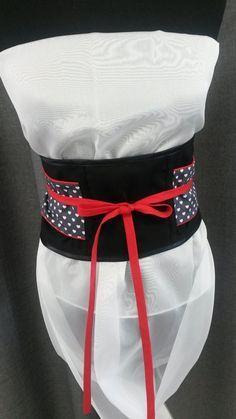 Ceinture Obi DIY www.je-fais-moi-m. Style Couture, Couture Fashion, Moda Kimono, Kimono Fabric, Sewing Scarves, Reuse Clothes, King Costume, Ethno Style, Simple Wardrobe