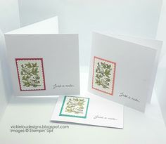 Vickie Lou Designs: Posted For You Just a Note Notecards