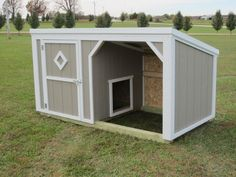 This is a 4x8 Small Animal Shelter with an inside 4-0 wall giving the dog or dogs a nice 4x4 dog house & a 4x4 run in shed. The customer set this building inside of a 10x10 Wire Kennel Something simular to this would run $750.00 Shelter Dogs, Animal Shelter, Animal Rescue, Custom Dog Kennel, Dog House Plans, House Dog, Run In Shed, Cool Dog Houses, Niches