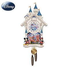 Disney Character Cuckoo Clock All your favorite Disney characters come together in a cuckoo clock, a special design from The Bradford Exchange