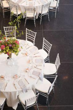 An aerial view of a wedding reception at Crocker Art Museum. Photographer: Liz Caruana Weddings.