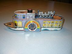 Vintage Tin Riverboat Great Swanee Circa 1950s