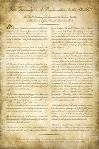 The 'Family Proclamation to the World'