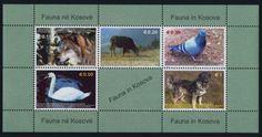 Kosovo-49a-MNH-Animals-Birds-Dog-Wolf-Pigeon-Swan-Cow