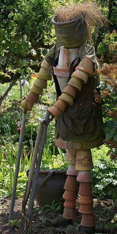 .flowerpot person for garden