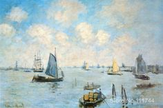 The Sea at Amsterdam Claude Monet Paintings for sale wall art High quality Hand painted