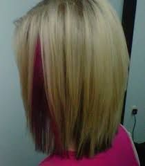 blonde highlights with pink peek a boo
