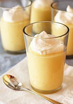 Meyer Lemon Pudding (can also use half fresh lemon juice/half fresh orange juice instead of meyer lemons!)