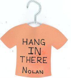 Tshirt/hanger door dec   This would be good for finals!