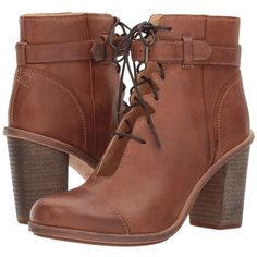 Timberland Timberland Boot Company Marge Ankle Strap Chukka (Dark... ($250) ❤ liked on Polyvore featuring shoes, boots, ankle booties, ankle boots, high heel bootie, lace-up booties, leather booties, chukka boots and high heel booties