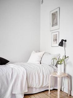 Simple home in black and white - via Coco Lapine Design blog