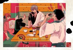 Pretty Art, Cute Art, Manhwa, Gintama Wallpaper, Otaku, Bedroom Wall Collage, Fantastic Art, Aesthetic Art, Anime Art