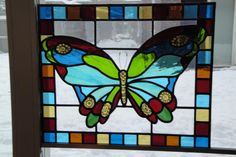 glas in lood vlinder. stained glass butterfly