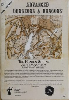 D&D Cover Art: Lost Tamoachan (1979) and The Hidden Shrine of Tamoachan (1980…